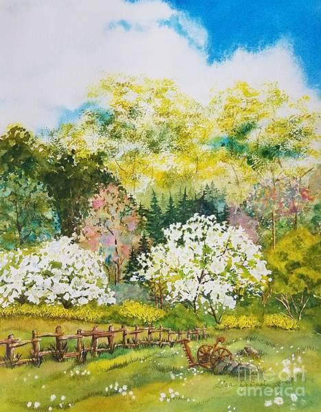 Forsythia Painting - Spring Fantasy by Lisa Debaets