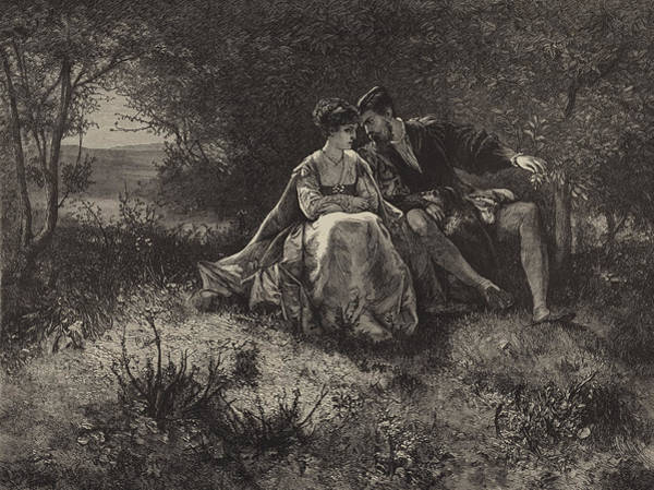 Man And Woman Drawing - Spring by Ferdinand Heilbuth