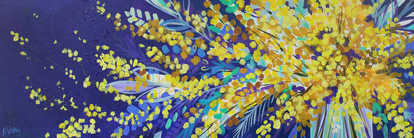 Forsythia Painting - Spring Fling Forsythia by Kristin Whitney