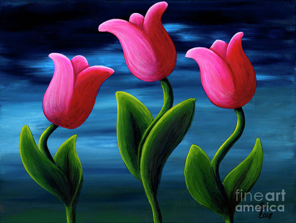Skagit Valley Painting - Spring Fling by Rebecca Parker