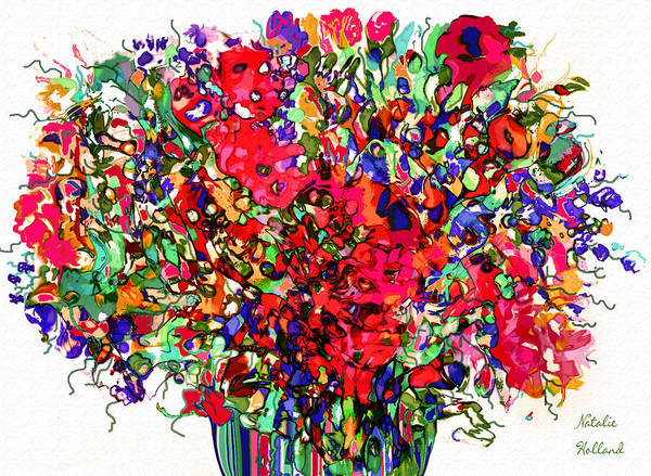 New Leaf Mixed Media - Spring Flowers Abstract by Natalie Holland