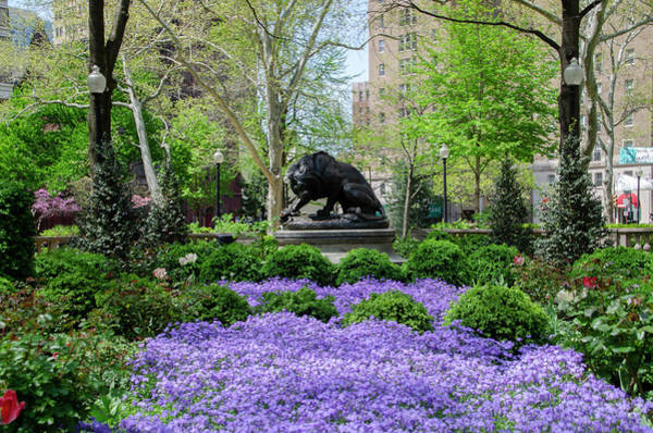 Photograph - Spring Flowers At Rittenhouse Square by Bill Cannon