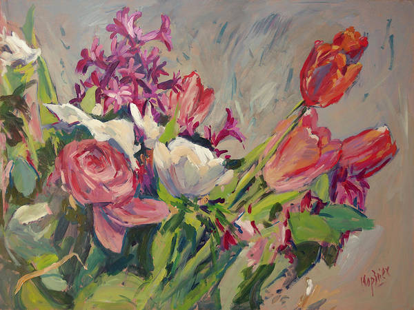 Painting - Spring Flowers Bouquet by Nop Briex