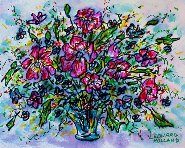 Wall Art - Painting - Spring Flowers by Leonard Holland