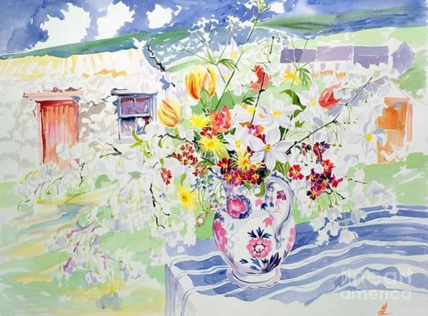Tulip Bloom Painting - Spring Flowers On The Island by Elizabeth Jane Lloyd