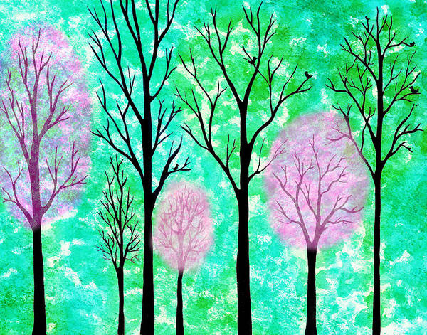Wall Art - Painting - Spring Forest  by Irina Sztukowski