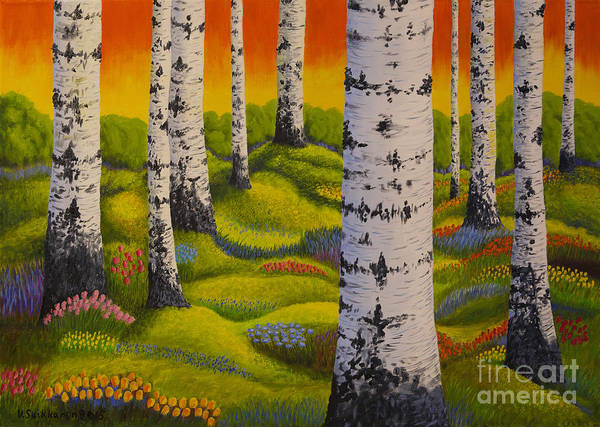 Salo Wall Art - Painting - Spring Forest by Veikko Suikkanen