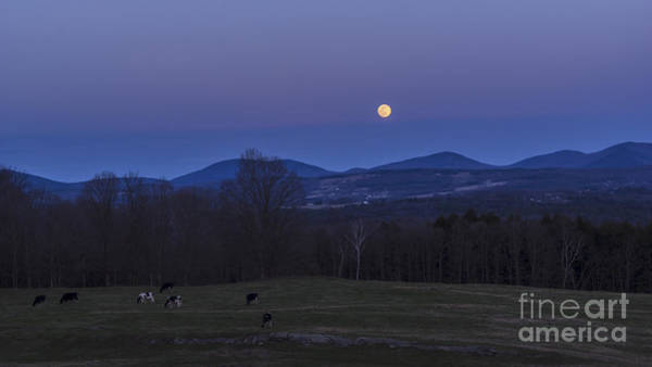 Photograph - Spring Full Moon by Scenic Vermont Photography