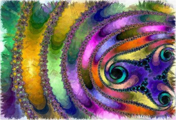 Purple Haze Digital Art - Spring Garden Abstract by Maciek Froncisz