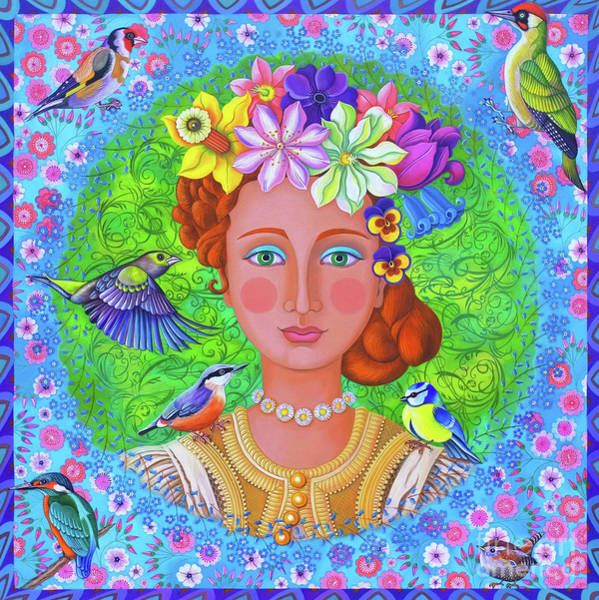 Wall Art - Painting - Spring Girl by Jane Tattersfield