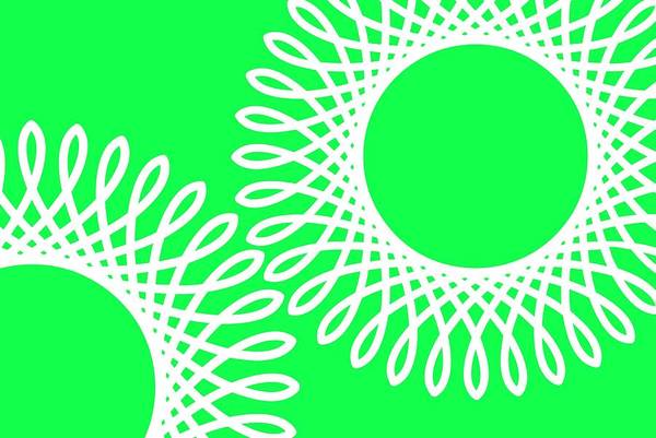 Wall Art - Digital Art - Spring Green And Spirals by Chastity Hoff