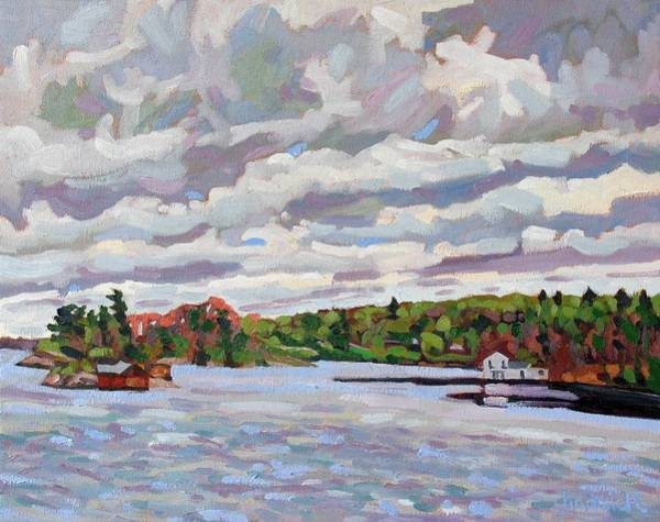Stratocumulus Painting - Spring Green by Phil Chadwick