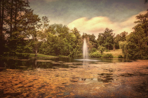 Cemeteries Photograph - Spring Grove Water Feature by Tom Mc Nemar