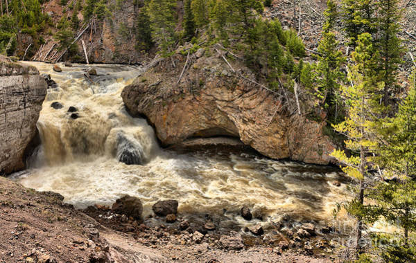 Photograph - Spring Gusher At Firehole Falls by Adam Jewell