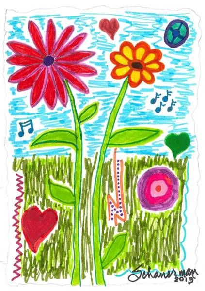 Drawing - Spring Has Sprung by Susan Schanerman