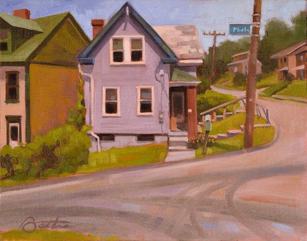 Neighborhood Painting - Spring Hill by Todd Baxter