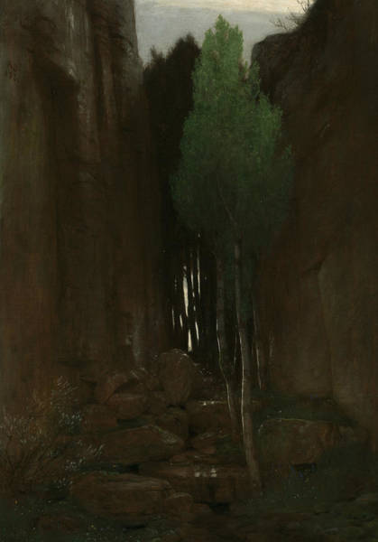 Painting - Spring In A Narrow Gorge by Arnold Bocklin