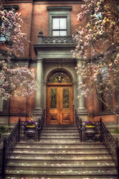 Photograph - Spring In Boston - Boston Doorways by Joann Vitali