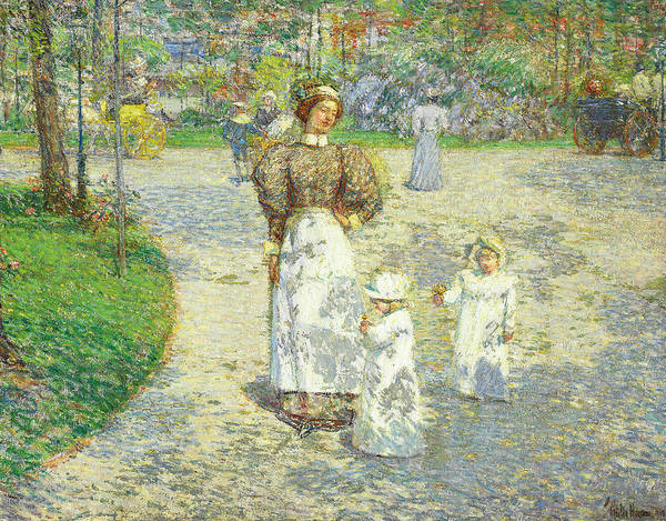Painting - Spring In Central Park by Childe Hassam