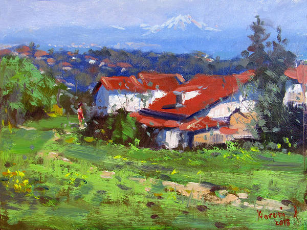 Wall Art - Painting - Spring In Dilesi Greece by Ylli Haruni