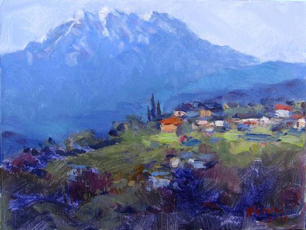 Wall Art - Painting - Spring In Harunas Village by Ylli Haruni