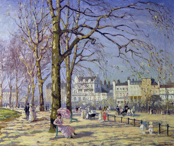 Wall Art - Painting - Spring In Hyde Park by Alice Taite Fanner