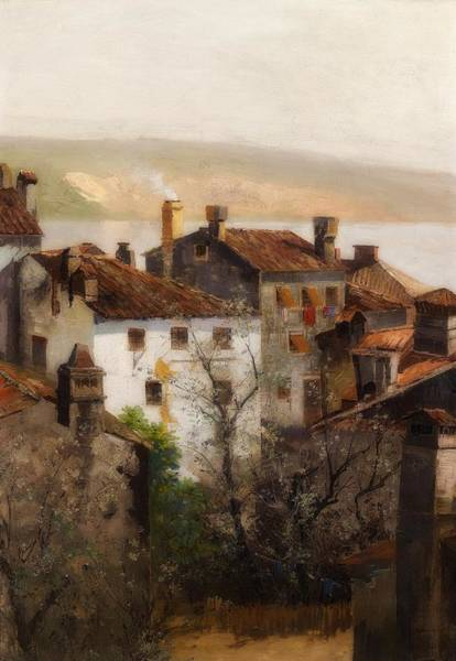 Croatia Painting - Spring In Istria by Adolf Kaufmann
