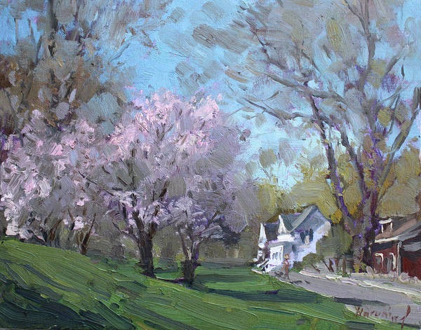 Blooming Wall Art - Painting - Spring In J C Saddington Park by Ylli Haruni