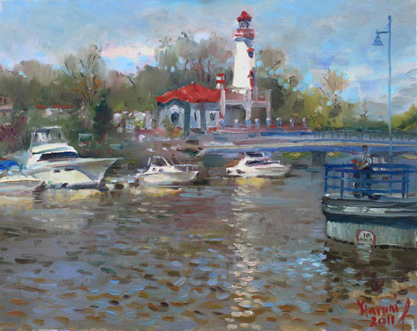 Lake House Painting - Spring In Lake Shore by Ylli Haruni