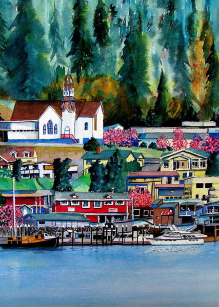 Wall Art - Painting - Spring In Poulsbo by Stephen Abbott