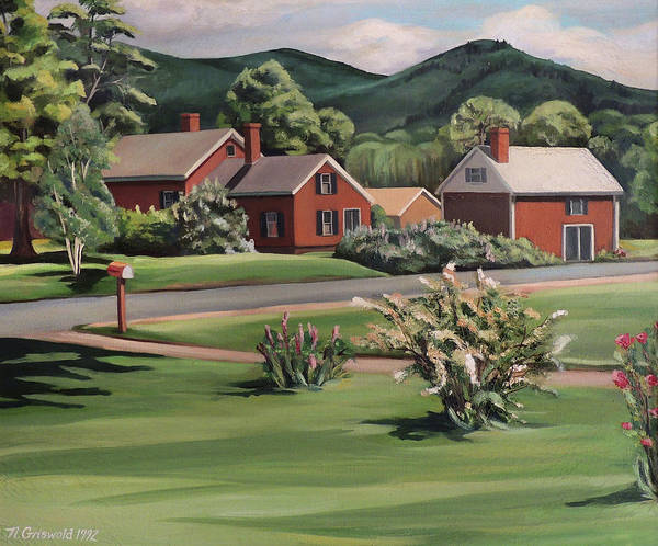 Painting - Spring In Rumney  by Nancy Griswold