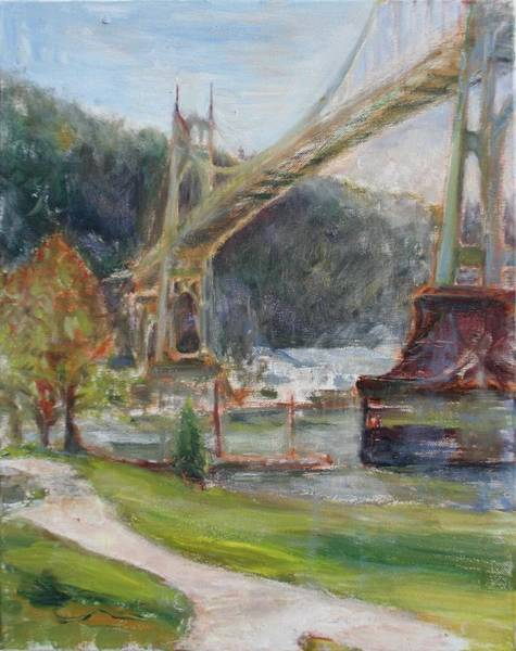 Painting - Spring In Cathedral Park - Original Contemporary Impressionist Painting by Quin Sweetman