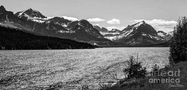 Photograph - Many Glacier, Black And White by Adam Morsa