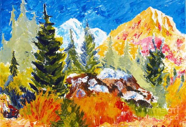 Painting - Spring In The Rockies by Walt Brodis