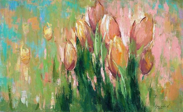 Wall Art - Painting - Spring In Unison by Anastasija Kraineva