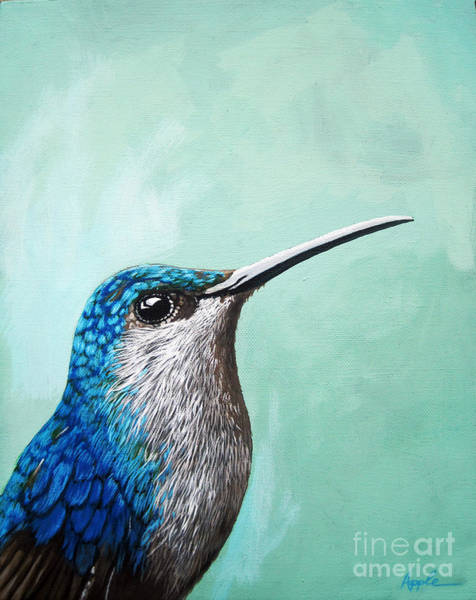Wall Art - Painting - Spring Is Humming - Hummingbird Painting by Linda Apple
