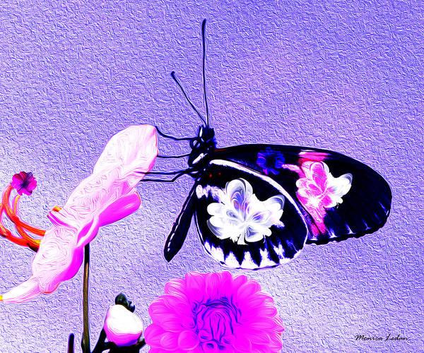 Butterfly On Flower Digital Art - Spring Joy by Monica Ledan