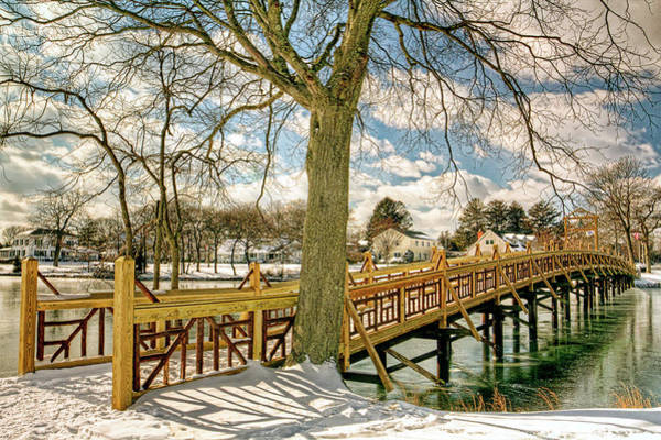 Wall Art - Photograph - Spring Lake New Jersey Bridge In Snow by Geraldine Scull