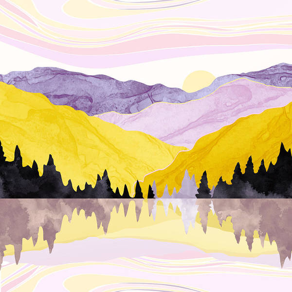 Spring Mountains Digital Art - Spring Lake by Spacefrog Designs