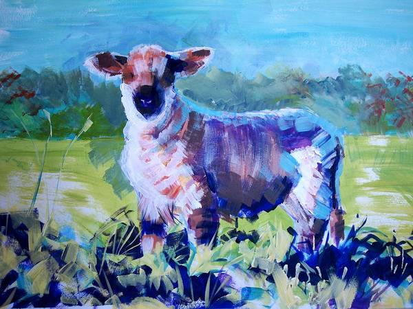Painting - Spring Lamb by Mike Jory