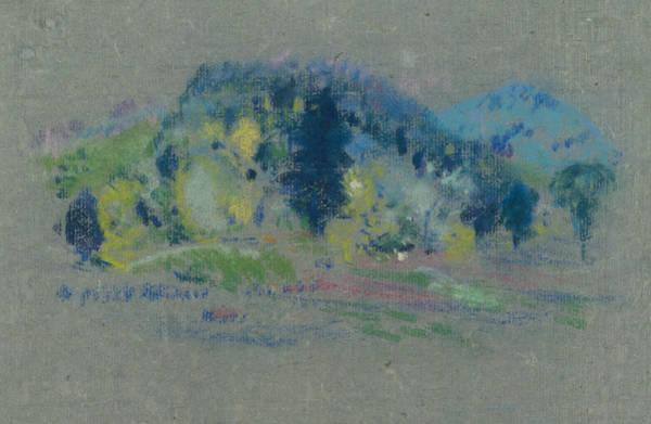 Pastel - Spring Landscape by Arthur Bowen Davies