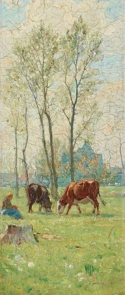 Tr Painting - Spring Landscape From Grez by Carl Trgrdh