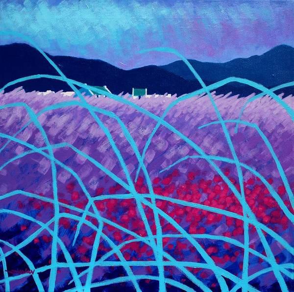 Violet Painting - Spring Landscape by John  Nolan