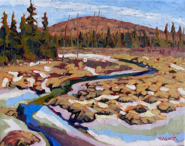 Canoeist Wall Art - Painting - Spring Marsh Algonquin by Phil Chadwick