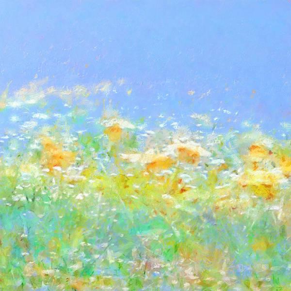 Painting - Spring Meadow Abstract by Menega Sabidussi