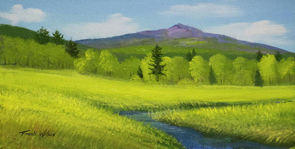 Wall Art - Painting - Spring Meadow Brook by Frank Wilson