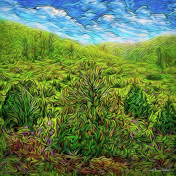 Digital Art - Spring Meadow Flow by Joel Bruce Wallach