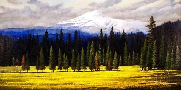 Painting - Spring Meadow Mount Brokeoff by Frank Wilson