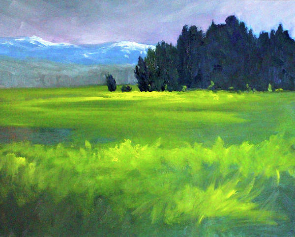 Wall Art - Painting - Spring Meadow by Nancy Merkle