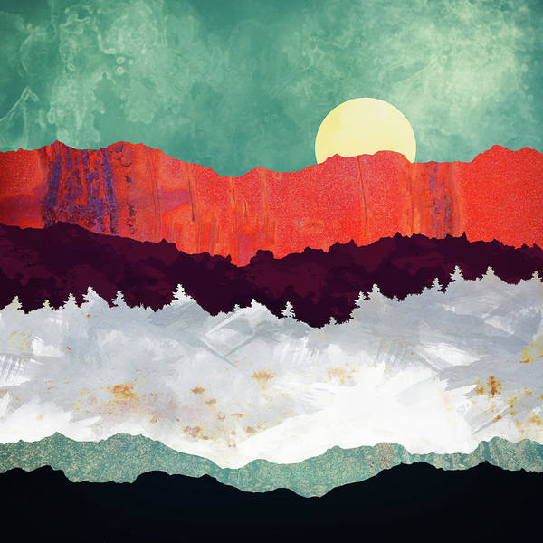 Spring Mountains Digital Art - Spring Moon by Katherine Smit